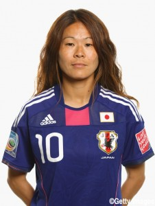 BOCHUM, GERMANY - JUNE 24: Homare Sawa of Japan during the FIFA portrait session on June 24, 2011 in Bochum, Germany. (Photo by Robert Cianflone - FIFA/FIFA via Getty Images)
