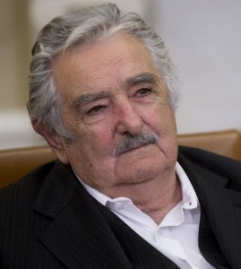 Jose Mujica Cordano, Uruguay's president, listens during a meeting with U.S. President Barack Obama, not pictured, in the Oval Office of the White House in Washington, D.C., U.S., on Monday, May 12, 2014. Obama and Mujica discussed ways to grow bilateral